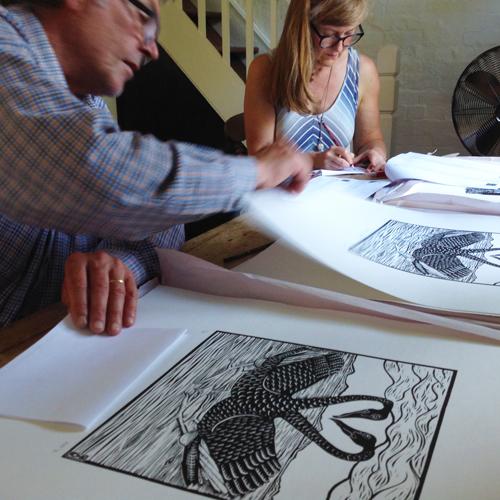 Signing art prints